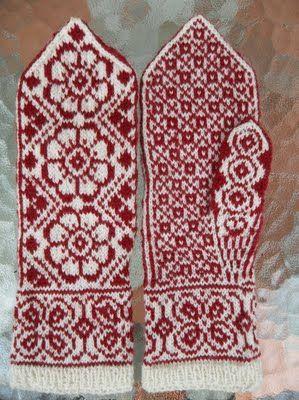 Scandinavian mittens | Strikkeklær