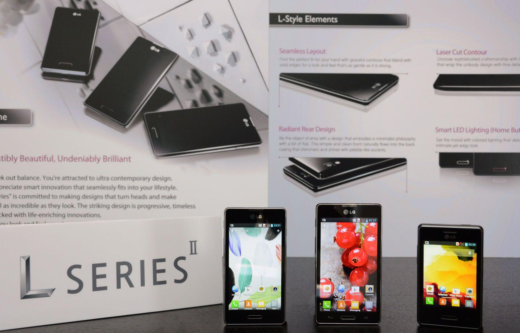 LG Optimus L7 II, L5 II
