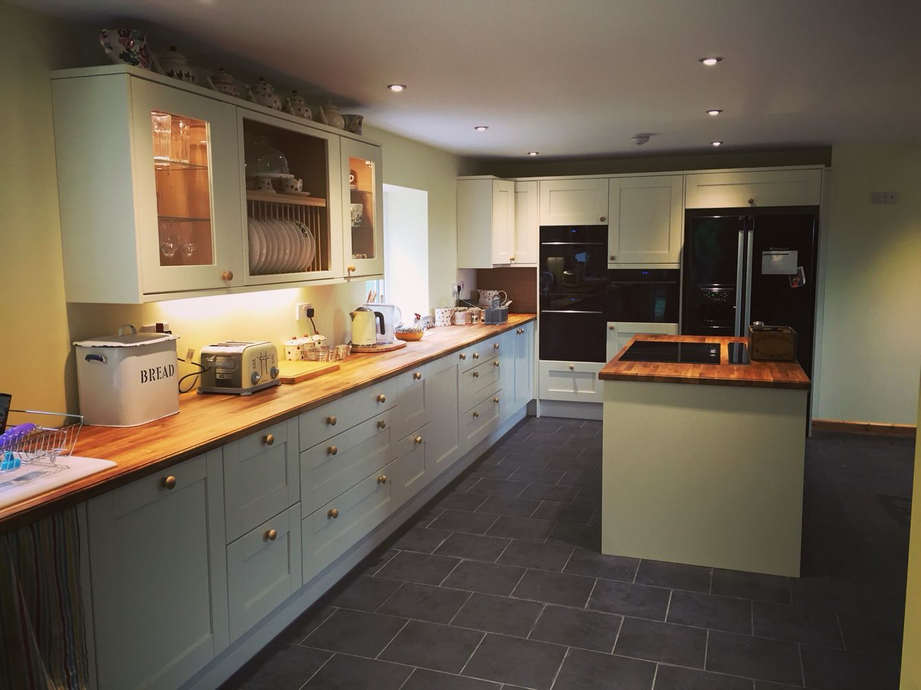 Cottage kitchen in our new extension, Tewkesbury by