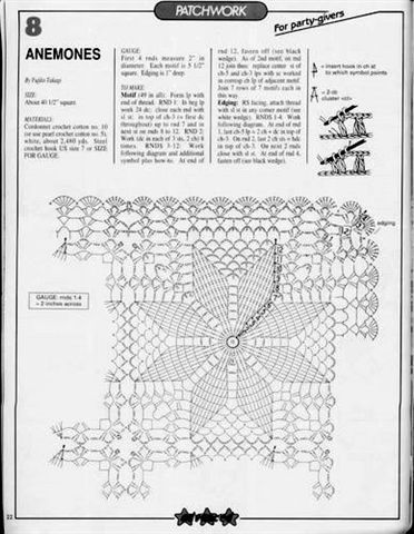 37a Jpg 372 480 Pixels Patrones Tapetes Tejidos A Crochet Ganchillo Carpetas Cuadradas