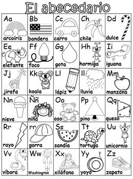 back to school dual language alphabet charts english spanish dual language spanish. Black Bedroom Furniture Sets. Home Design Ideas
