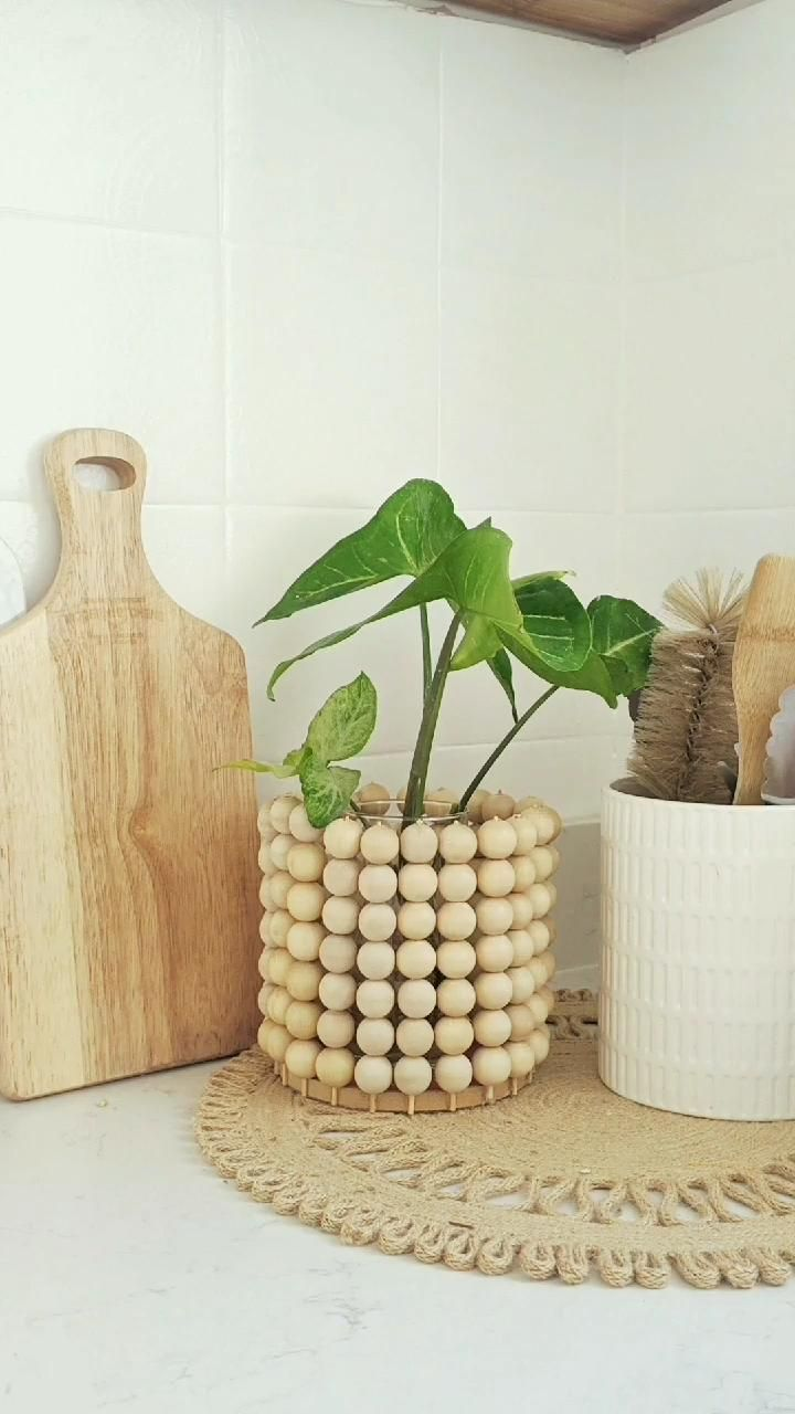 Photo of DIY Chic Wooden Ball Planter