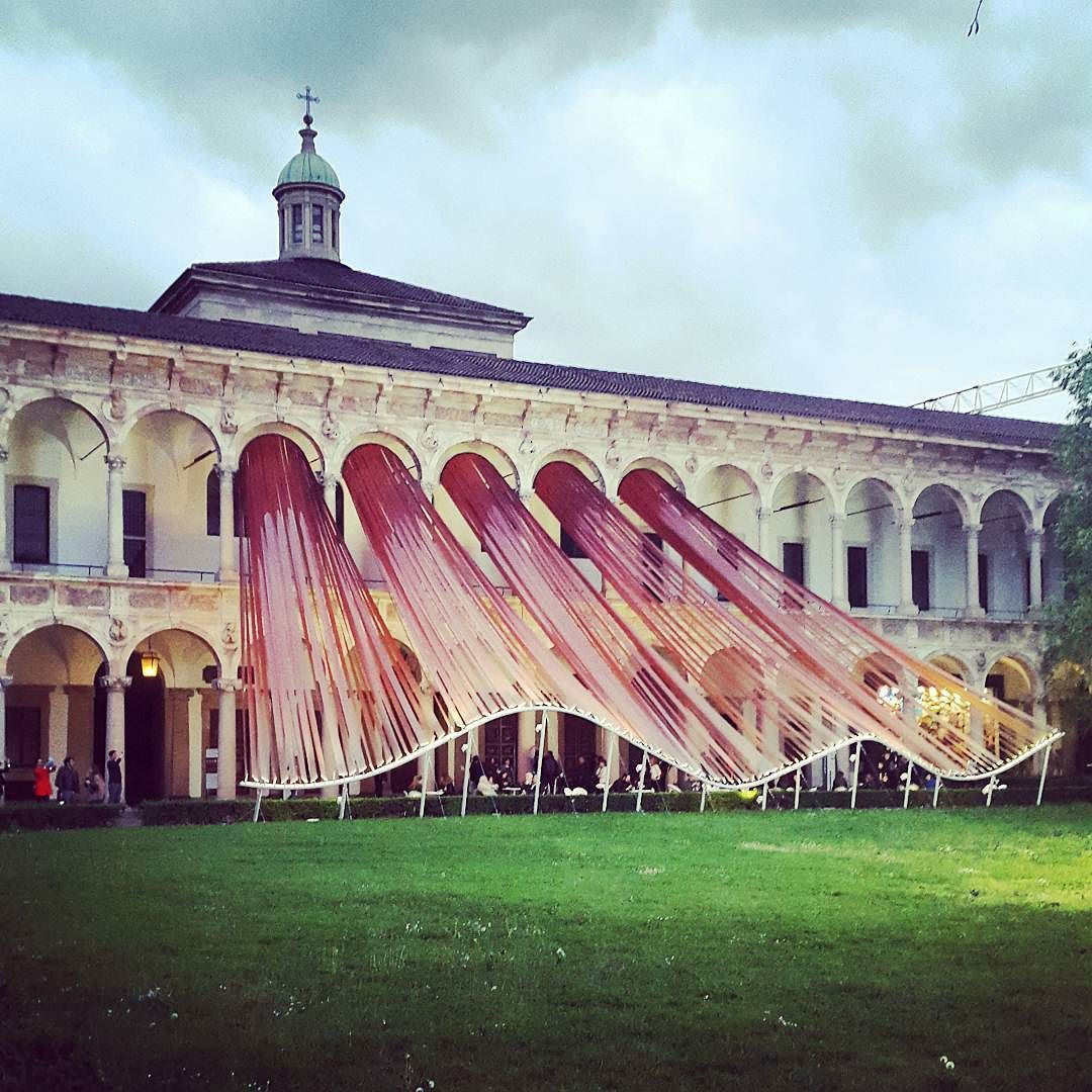 """Invisible border"" by #madarchitects  #statale #universitadeglistudi #salonedelmobile #milan #fuorisalone2016 #milano #design #furniture #lighting #installation #installazione by maryam_mzm"