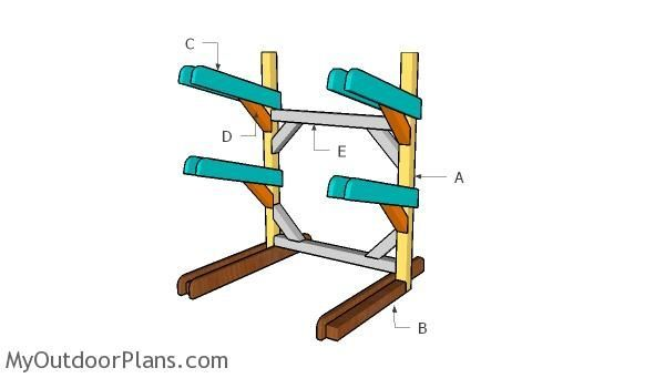 Photo of Kayak Rack Plans | MyOutdoorPlans | Free Woodworking Plans and Projects, DIY She…