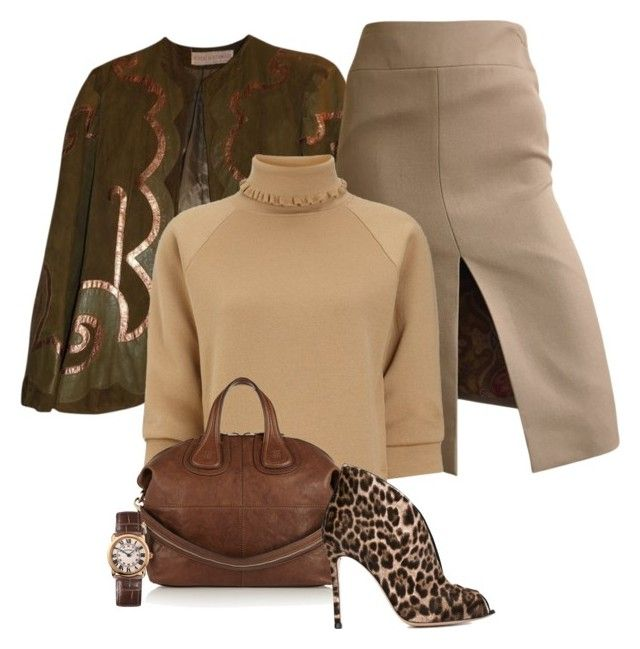"""Leopard Suede"" by michelletheaflack ❤ liked on Polyvore featuring Dolce&Gabbana, J.W. Anderson, Givenchy, Gianvito Rossi, Cartier and Sweater"