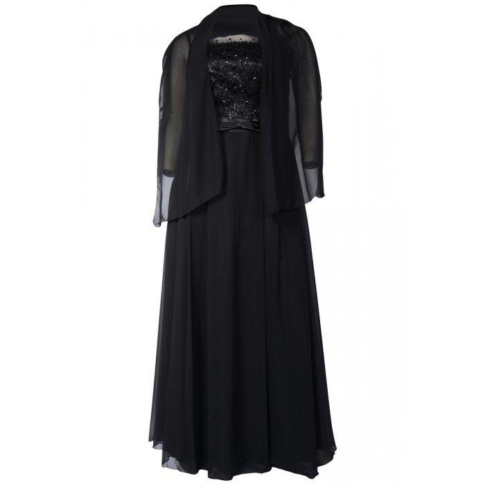 Grote maten damesmode galajurk grote maat zwart | Fashion In Conflict
