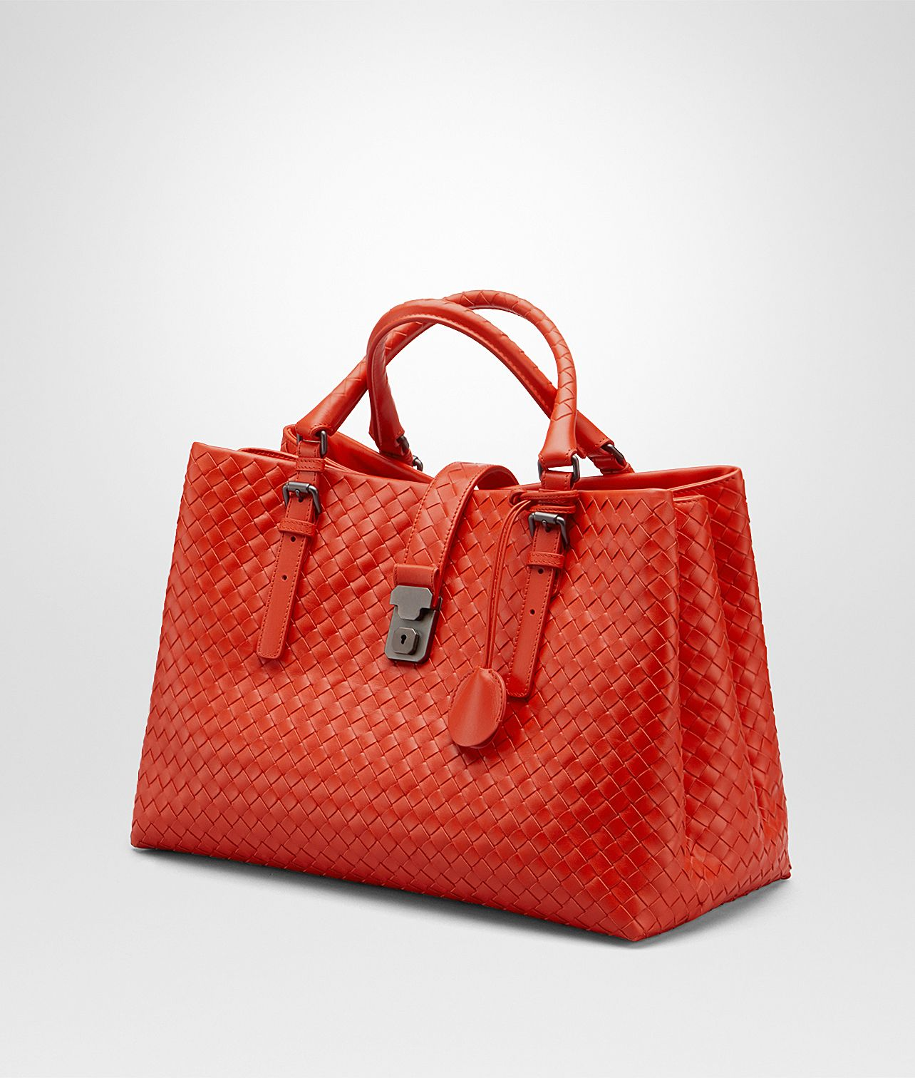Bottega Veneta® - MEDIUM ROMA BAG IN STEEL INTRECCIATO CALF  6ee25d3edaff9