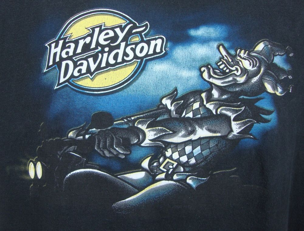usa harley davidson appleton wi mens black t-shirt xl jester bike