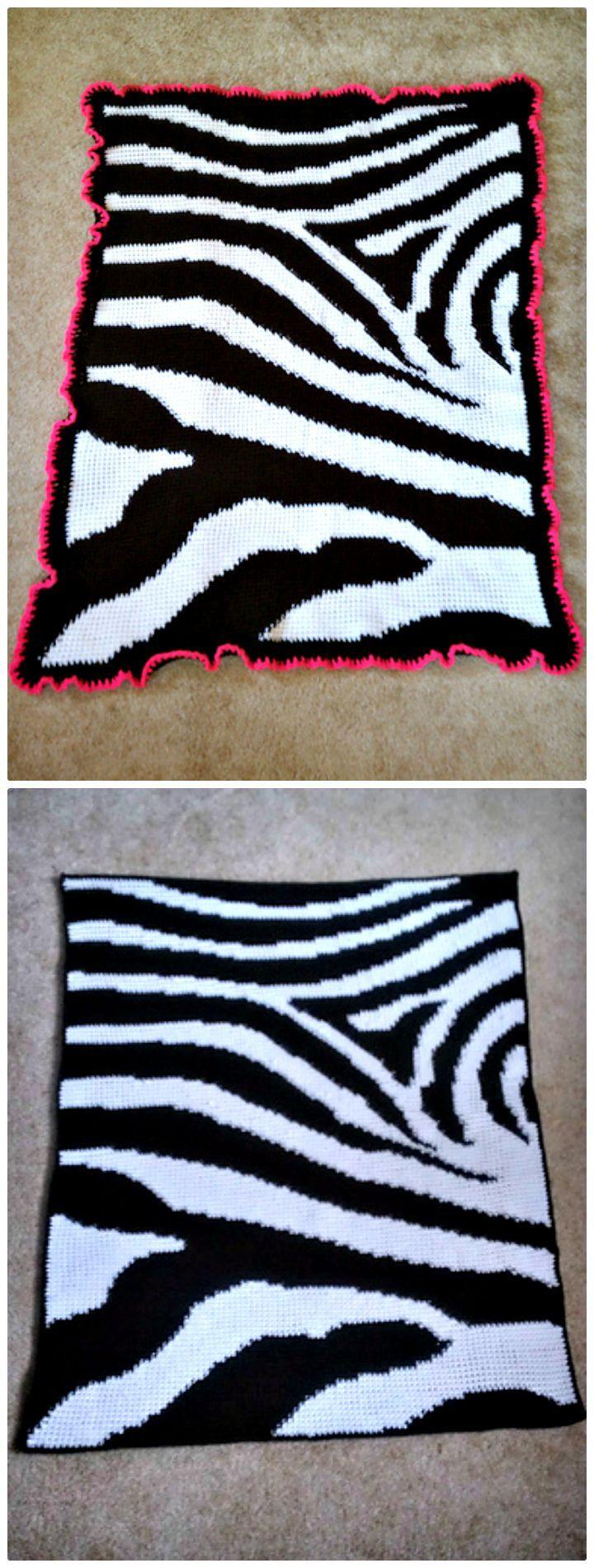 26 Free Crochet Zebra Patterns / Hat, Blanket, Amigurumi ...