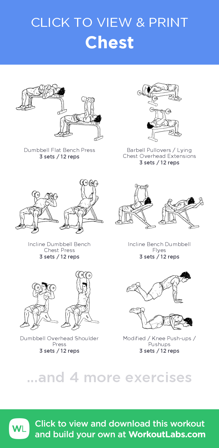 Chest Click To View And Print This Illustrated Exercise Plan Created With WorkoutLabsFit