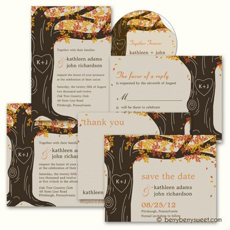 17 Best images about Invitation Ideas – Fall Invitations for Weddings