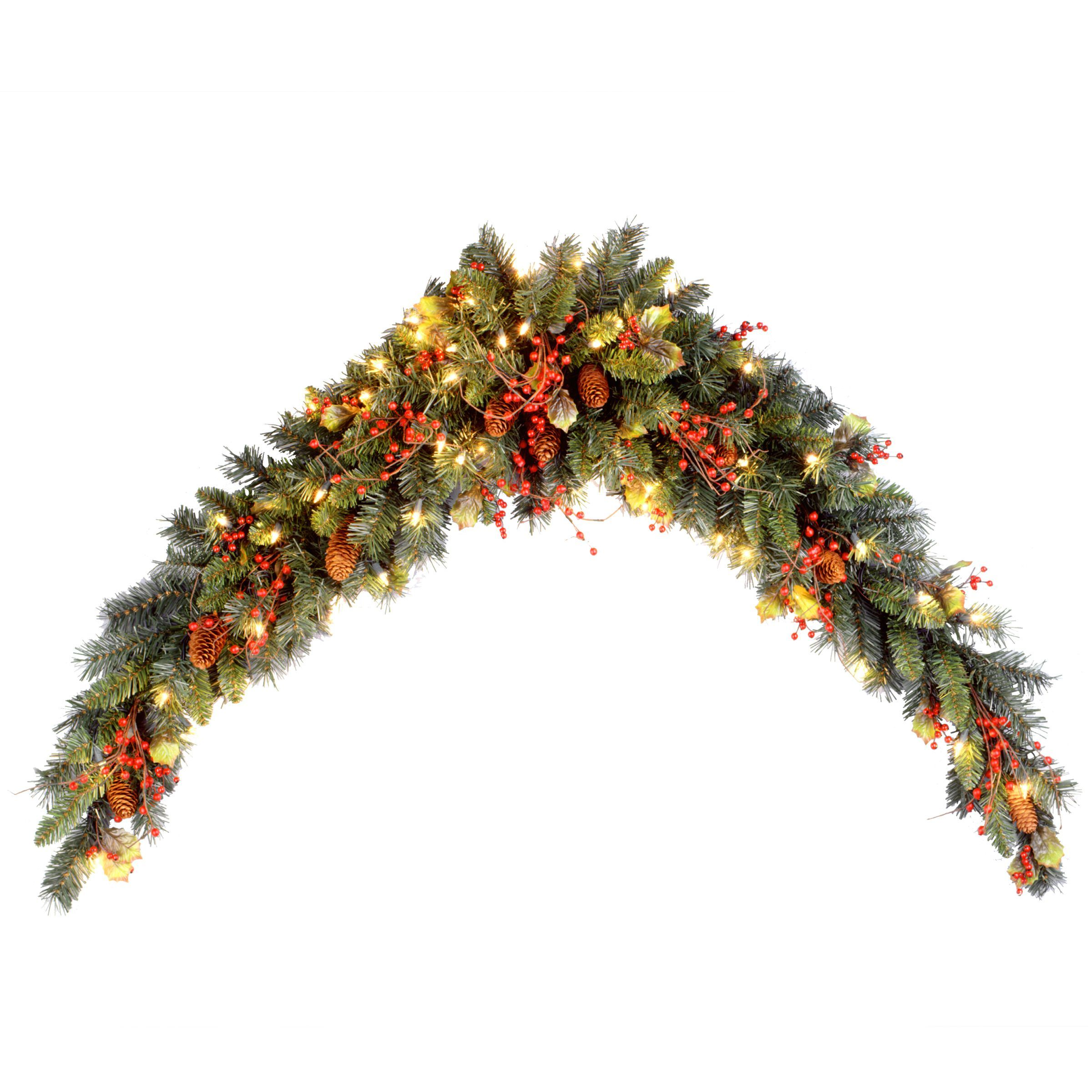 National Tree pany Classical Collection 6 foot Mantel Swag with