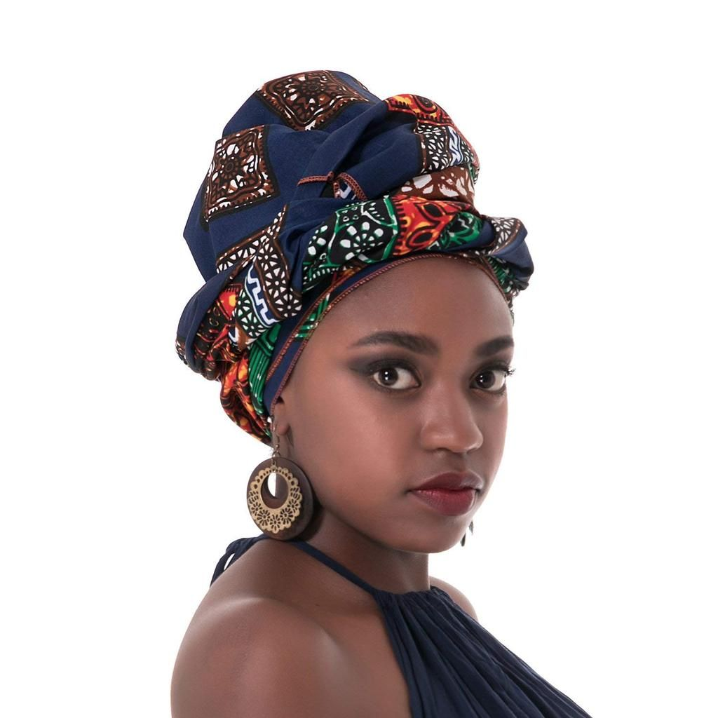 86494533776 African Traditional Wax Print Head wrap Headwrap Scarf Tie