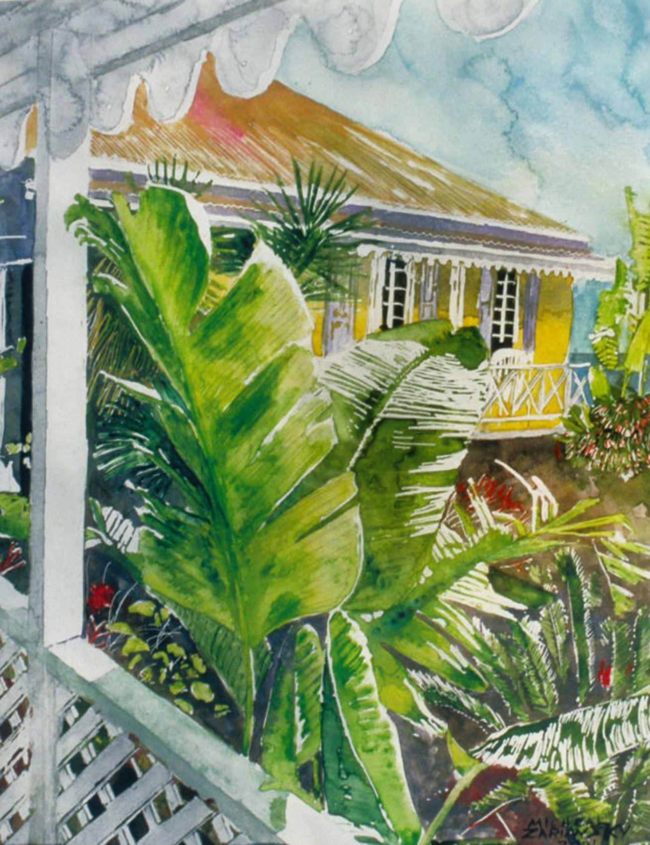 Micheal Zarowsky Tropical Verandah Tortola Bvi 3 14 X 11
