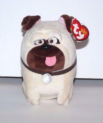 bf46f0b19ff TY Beanie Babies The Secret Life of Pets MEL White Dog Plush 5