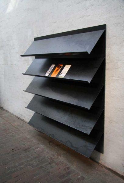 Prospekthalter, Prospektwand, Info Display aus Stahlblech