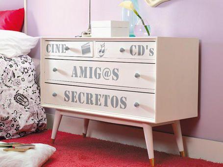 Decorar con muebles antiguos gallery of muebles - Vinilos para cajones ...