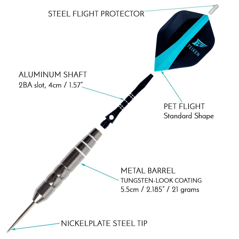 stems case 21g darts set Manchester City Standard dart flights