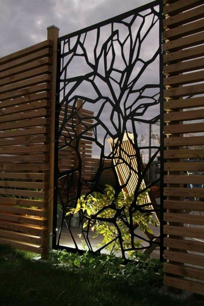Paravent De Jardin Plus De 50 Idees Orginales Archzine Fr Paravent Jardin Design De Cloture Decoration Mur Exterieur