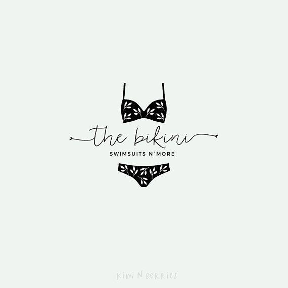 Bikini Logo Swimsuit Logo Design Swimsuit Shop Logo Premade