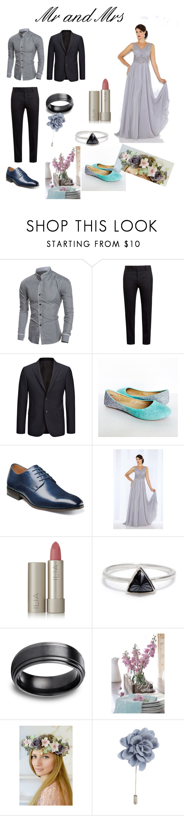 """grey blue pink wedding"" by heeeyyaaa ❤ liked on Polyvore featuring Marni, Joseph, Florsheim, Cameron Blake, Ilia, Bing Bang and Lanvin"