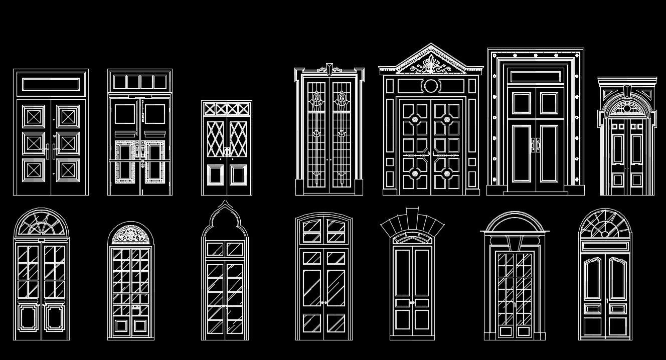 The dwg files are compatible back to autocad 2000 these for Door design autocad