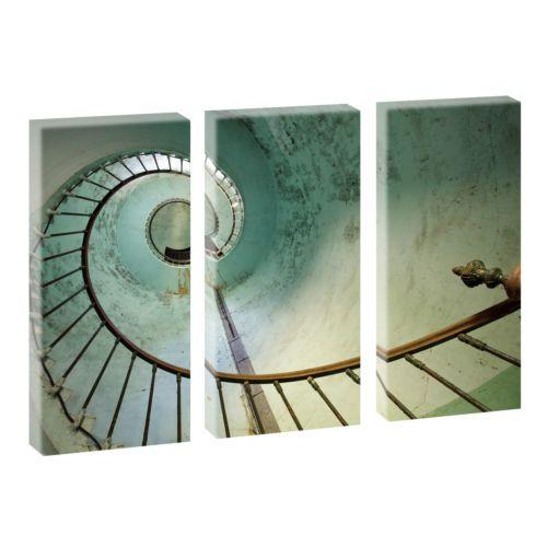 Kunstdruck auf Leinwand-Fertig zum Aufhängen-Made in Germany -3-Teiler je 40*80