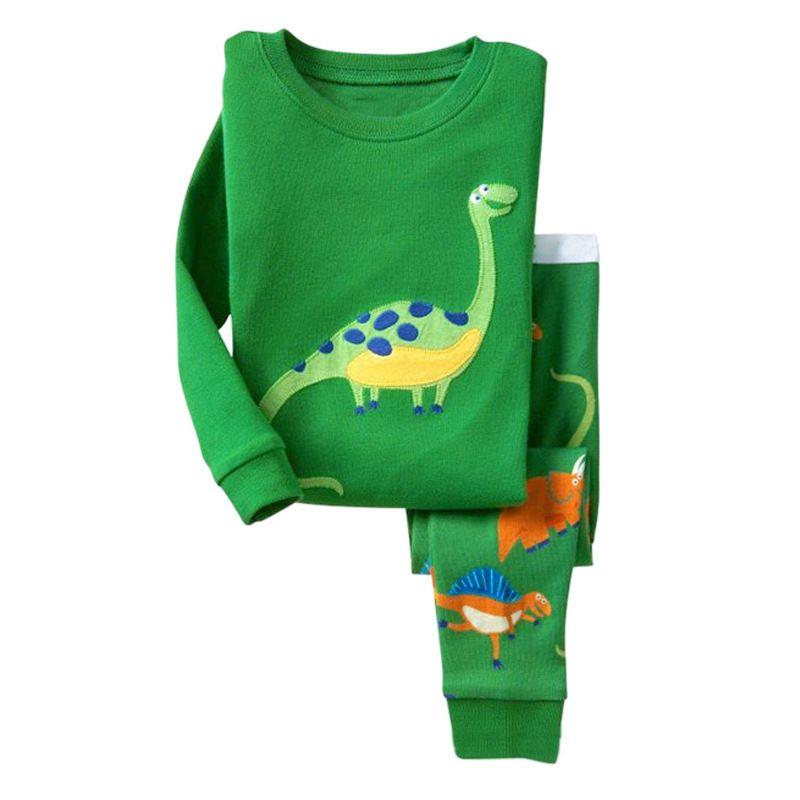 a470d18f11 Kids Pajama Set Dinosaur Boys Sleepwear 2-7 Years Girls Pijamas Set  Children s pyjama T-shirt + Pants Baby Girl Boy Clothing Set