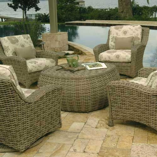 Outdoor Living Rooms, Driftwood, Outdoor Furniture, Garden Ideas, Weather,  Wicker, Tanning Bed, Coastal Homes, Hot Tubs