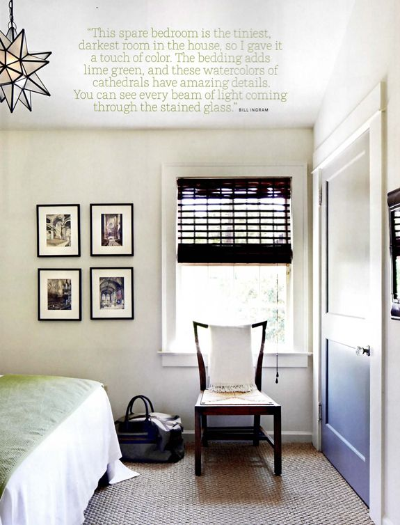 Bill Ingram design featured in House Beautiful  Wall color  Benjamin Moore  Creamy White. Bill Ingram design featured in House Beautiful  Wall color