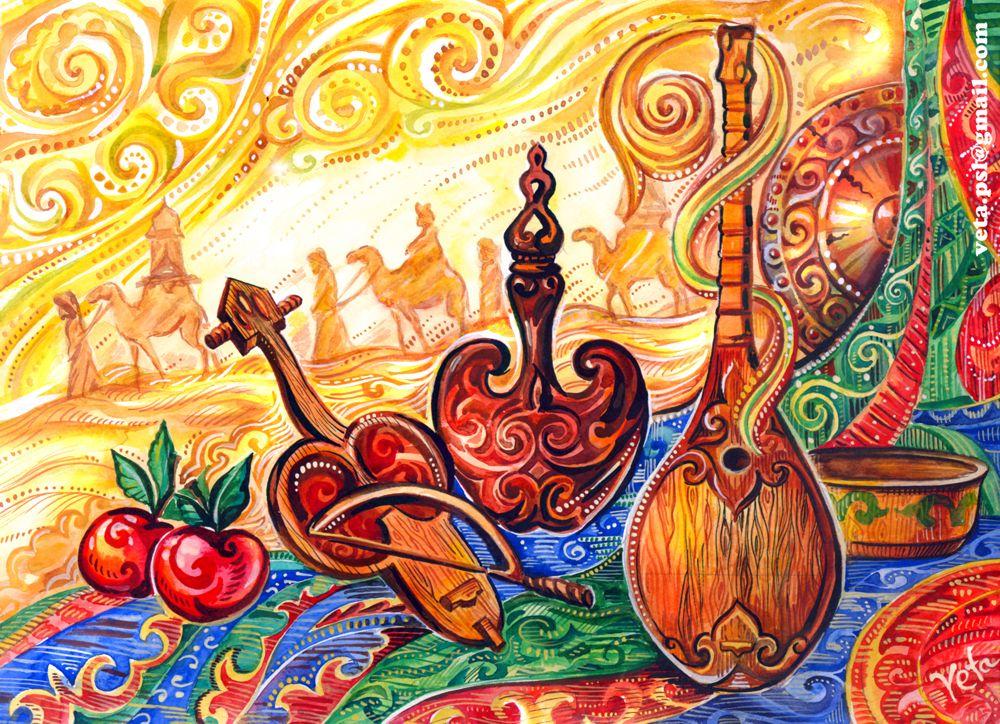 изделия как по казахски открытка книге