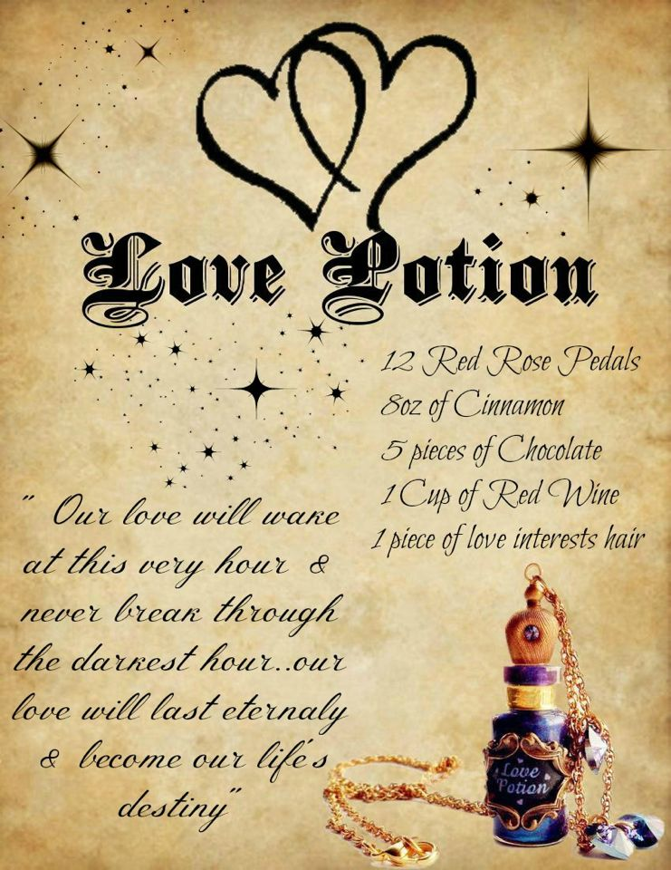 Love Potion Book Of Shadows Pinterest Wiccan Spells