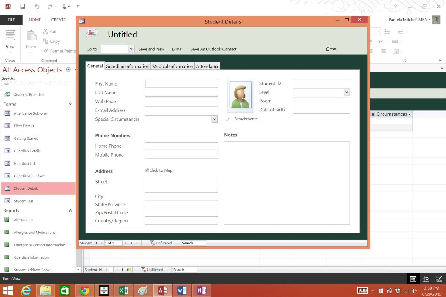 Classroom Manager Database Template By Pmmba On Etsy