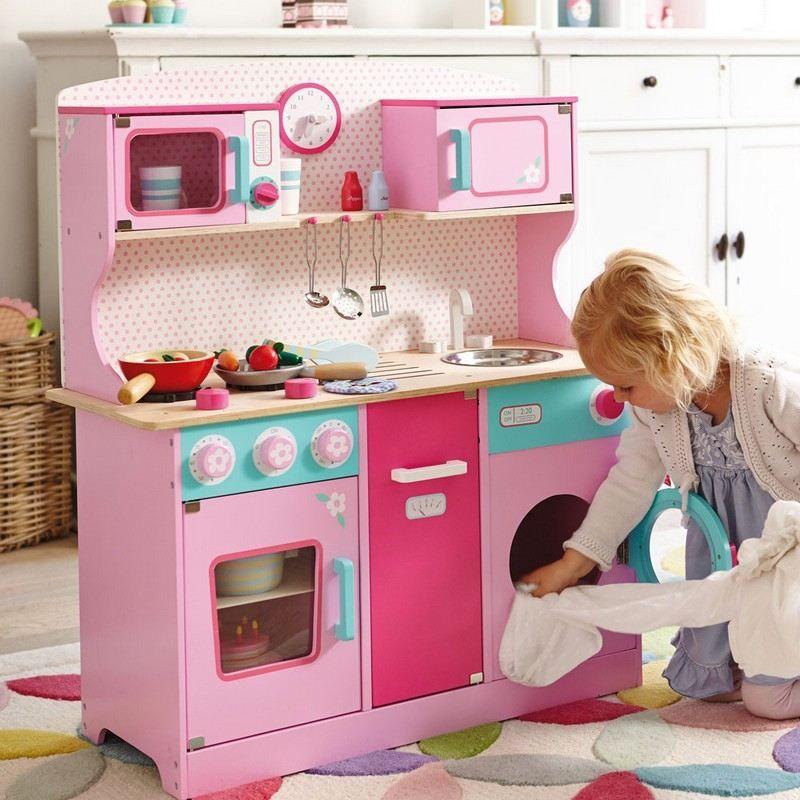 cuisine enfant bois 50 id es pour surprendre votre petite cuisines enfant roses et bois. Black Bedroom Furniture Sets. Home Design Ideas