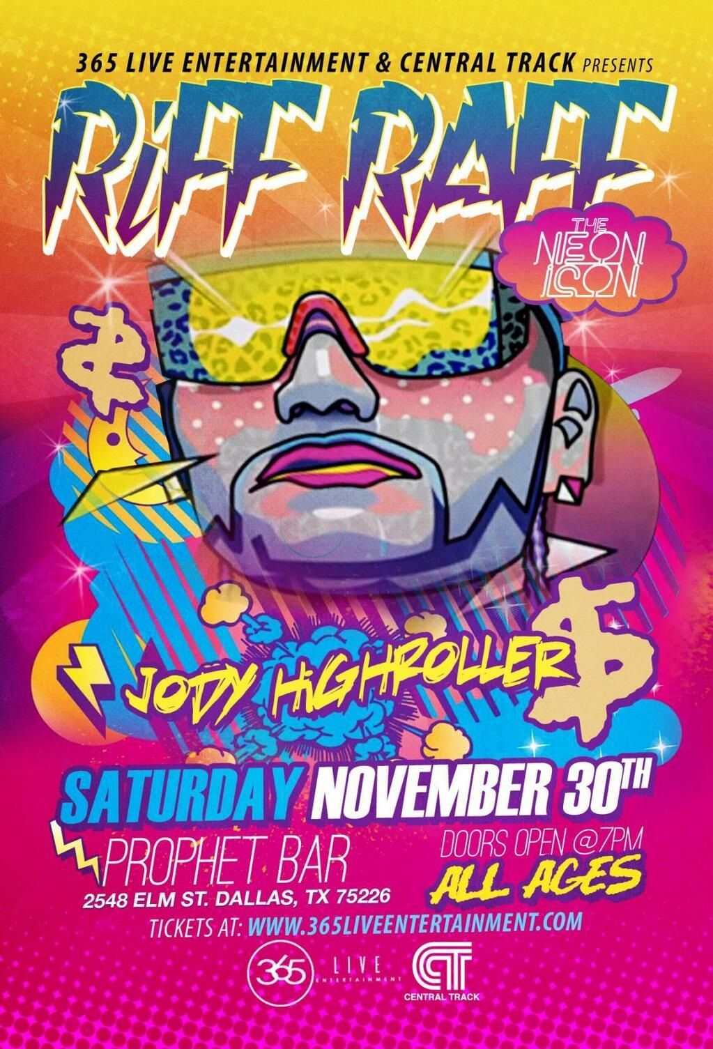 11/30/13. RiFF RAFF (@Joe Shelton). Prophet Bar in Deep Ellum Dallas   #riffraffdallas
