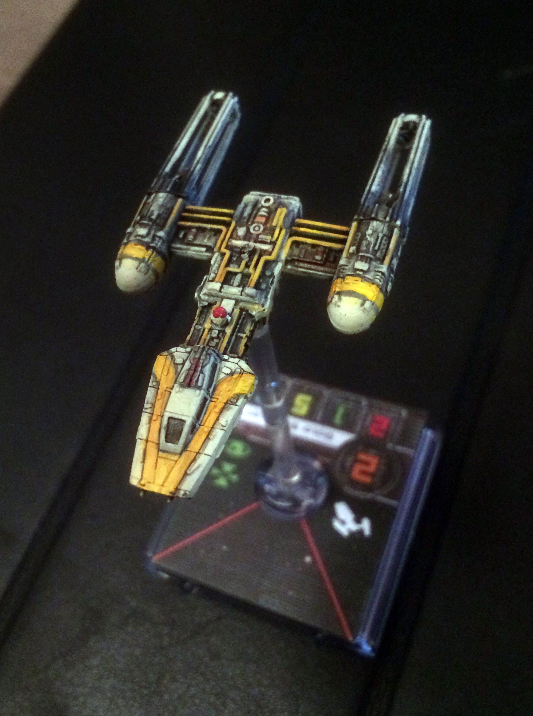 Gold Squadron Y Wing Repaint Star Wars Awesome Star Wars Vehicles X Wing Miniatures