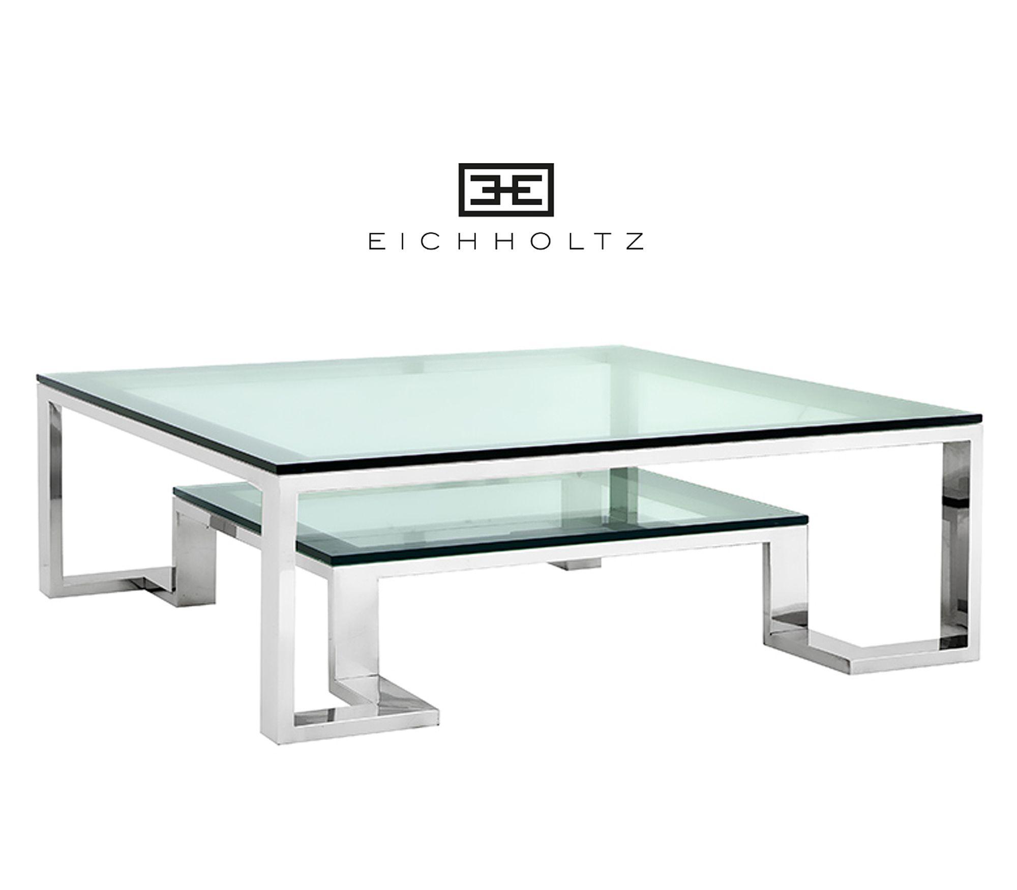 Salontafel Messing Met Glasplaat.Eichholtz Coffee Table Huntington Salontafel Glasplaat 120 X120cm
