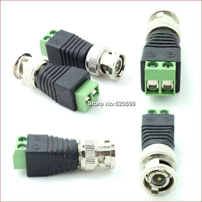 $5.80 (Buy here: http://appdeal.ru/8wci ) 10pcs/lot Sindax Video AV Balun BNC plug for CAT5 Camera CCTV Video BNC male AV Balun BNC plug Connector Adapter Coaxial Power for just $5.80