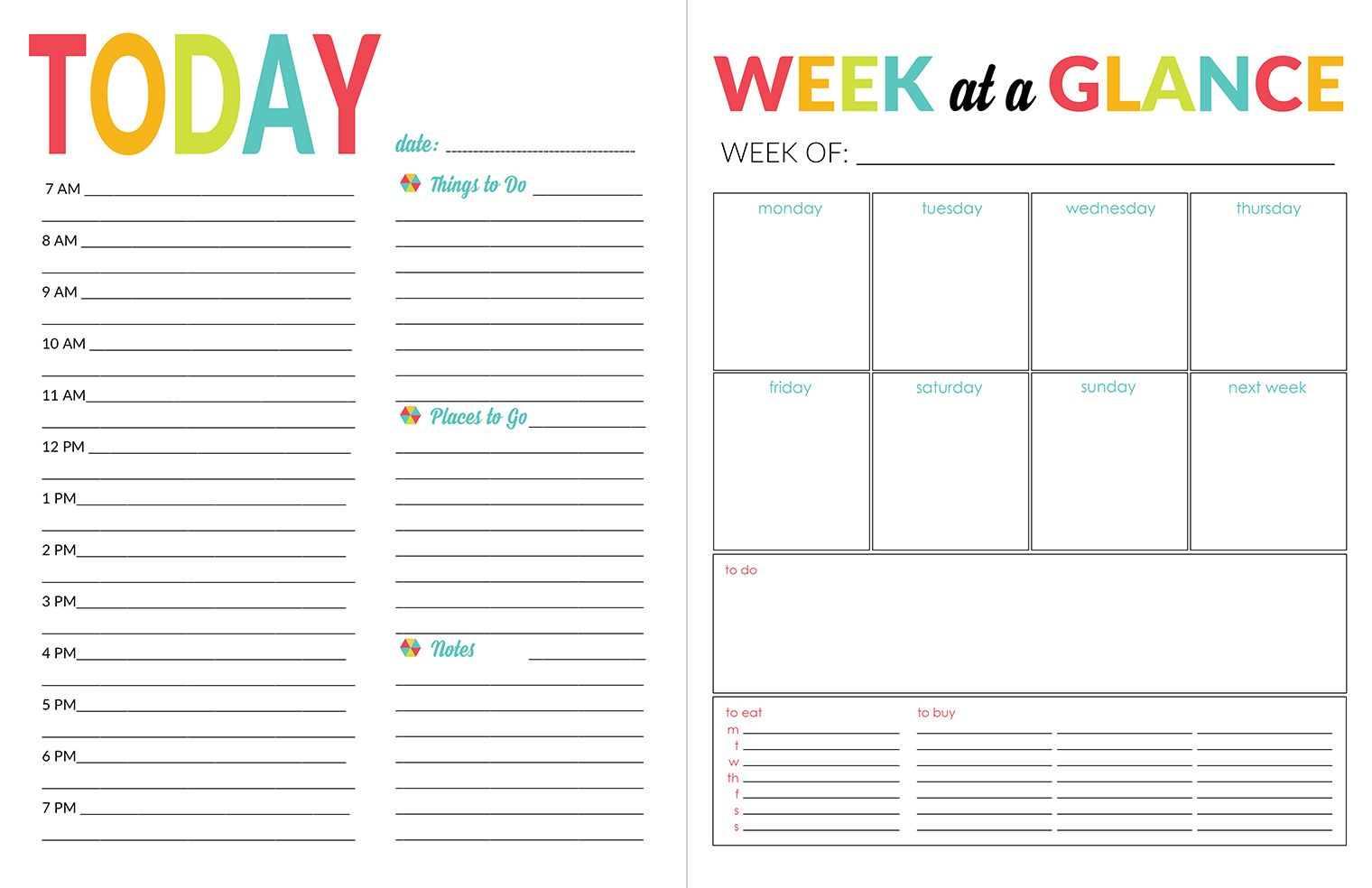 School Year Planner  Daily Calendar Planners And School