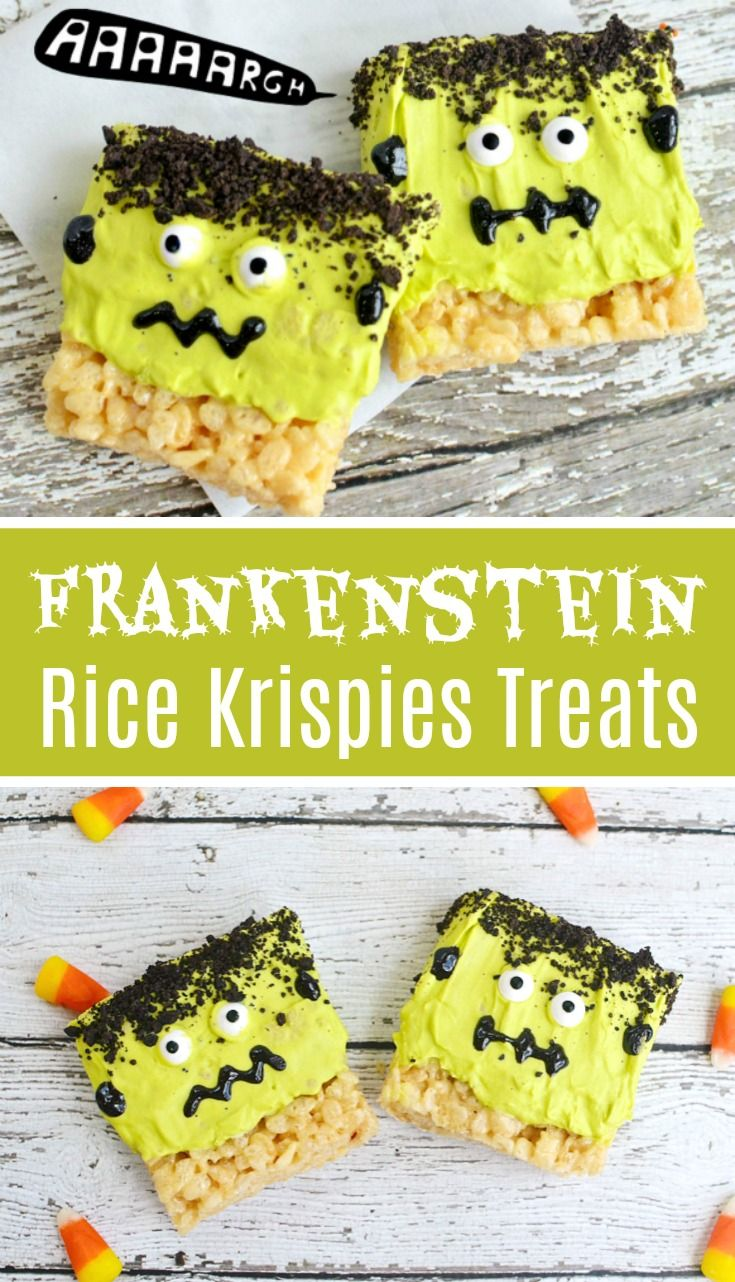 frankenstein rice krispies treats recipe super cute halloween treat idea halloween