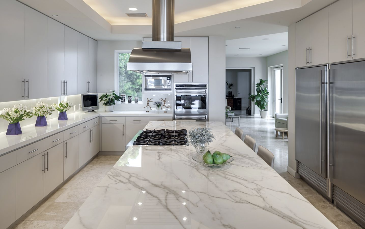 Encimera - Artic White Polished | Isla - Calacatta Polished ...