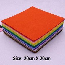 43 colors/lot 20 CM X 20 CM Feltro In Poliestere Tessuto Non tessuto di Feltro 1 MM di Spessore FAI DA TE Feltro Artigianato Panno Feutrine Fieltro Feltro(China (Mainland))