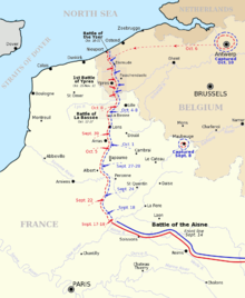 Map Of North France.Map Of Northern France And Belgium Showing The Progress Of Battles