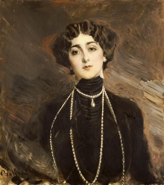 Portrait Of Lina Cavalieri by Boldini, Giovanni - Wall Art Giclee Print or Canvas