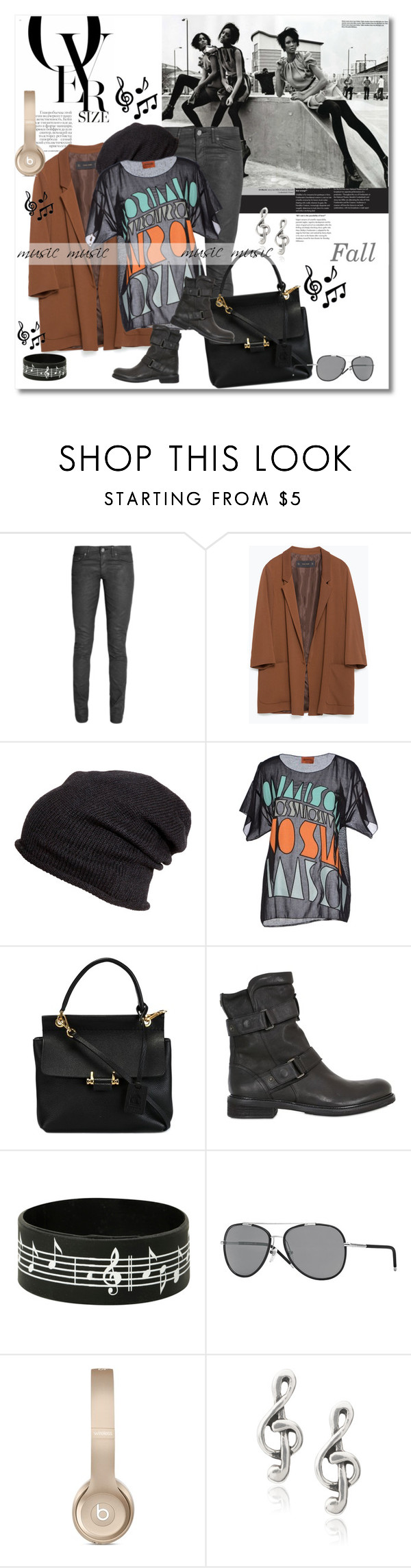 look the day by vkmd on Polyvore featuring Missoni, Zara, Acne Studios, Lanvin, Journee Collection, H&M, Burberry and Matchless
