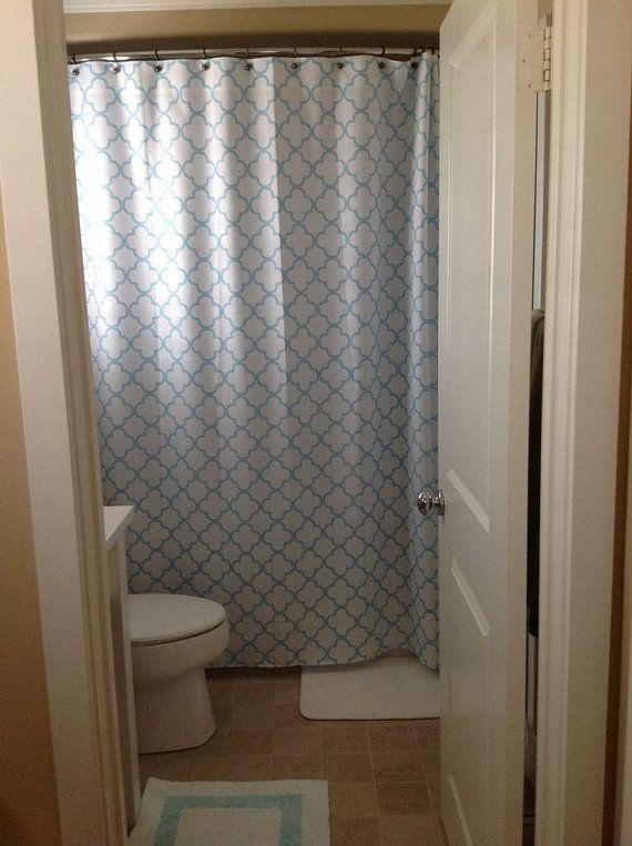 Quatrefoil Shower Curtain YOU PICK Lattice COLORS Standard or Extra ...