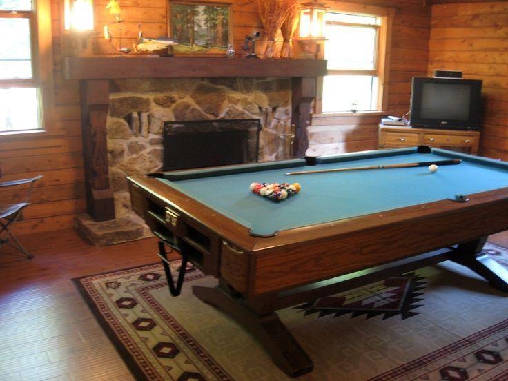 Photo of Recreational room inside the log home.     Recreational room inside the log home…,  #Home #…