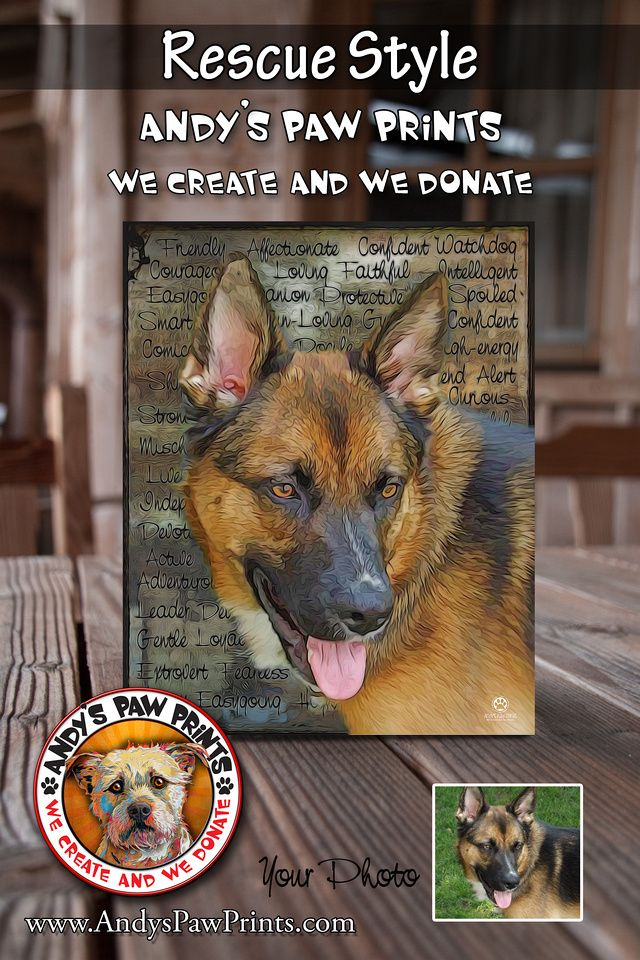 Pet Portrait Keepsakes from Andy's Paw Prints Cute dog