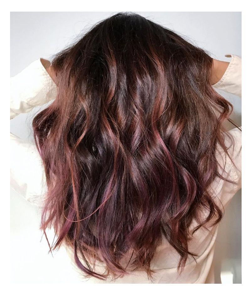 Chocolate Mauve Hair Is The New Color Trend Blowing Up On Instagram Chocolate Mauve Hair Hair Color Chocolate Hair Styles