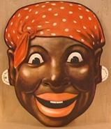 """learning head wrap history - """"black mummy """" the mammy image served the political, social, and economic interests of mainstream white America. During slavery, the mammy caricature was posited as proof that blacks -- in this case, black women -- were contented, even happy, as slaves. Her wide grin, hearty laugher, and loyal servitude were offered as evidence of the supposed humanity of the institution of slavery."""